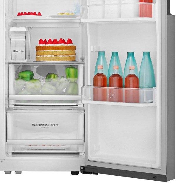 hladilnik side by side lg gsl561pzuz nofrost multiairflow 6