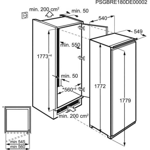 hladilnik za vgrazhdane zanussi zedn18fs1 s edna vrata vtreshna kamera 260l v 177 2sm 2