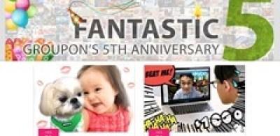 Groupon推出五週年誌慶優惠