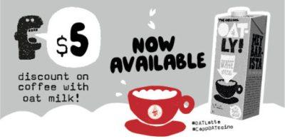 Pacific Coffee 推出 Oatly 咖啡,採用健康燕麥牛奶替代品!