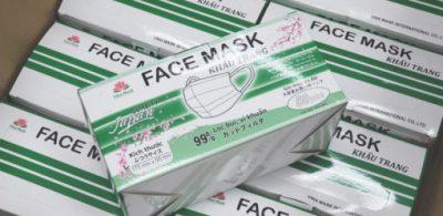 三項防護 PFE VFE BFE 99%  越南 Vina Mask 三層成人口罩 $198 香港發售
