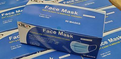 HL+ 成人外科口罩  每盒 50 片售 $178
