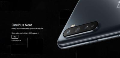 性價比再臨 OnePlus Nord 將於 8 月 4 日開賣!港行版本支援 5G 售 $3,298 起!