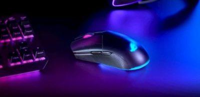 左右對稱、有線/無線雙對應、可客製化高性能電競滑鼠 ASUS「ROG Pugio II」