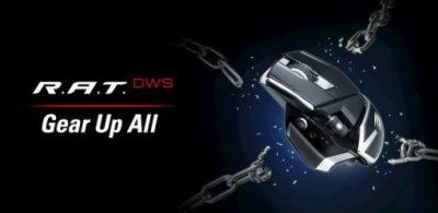 MAD CATZ無線電競滑鼠R.A.T. DWS 反應時間0.2ms以内