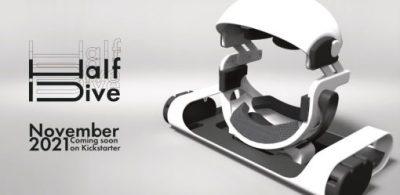 全球首款!專為躺著使用設計的VR設備「HalfDive」亮相