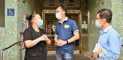 聶德權石籬邨宣傳疫苗接種服務