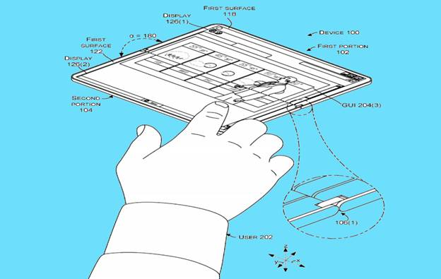 Microsoft foldable smart-phone