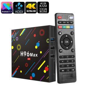 H96 MAX 4GB/64GB Android 7.1 Smart TV Box