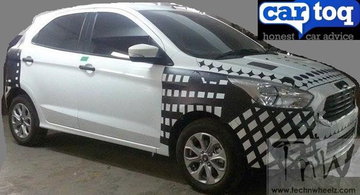 Spy Pics: 2015 Ford Figo Hatchback spied with less camo