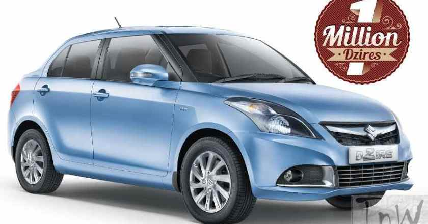 10 lakh units of Maruti Suzuki DZire sold in India