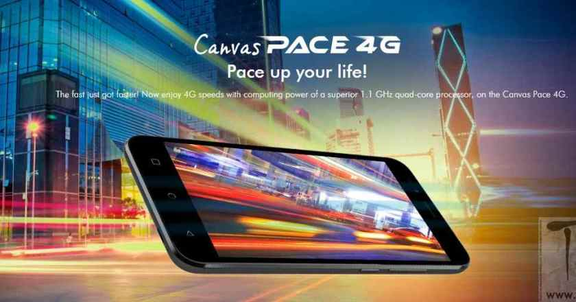 Micromax launches Canvas Pace 4G Q416 @ INR. 6821 via e-Bay