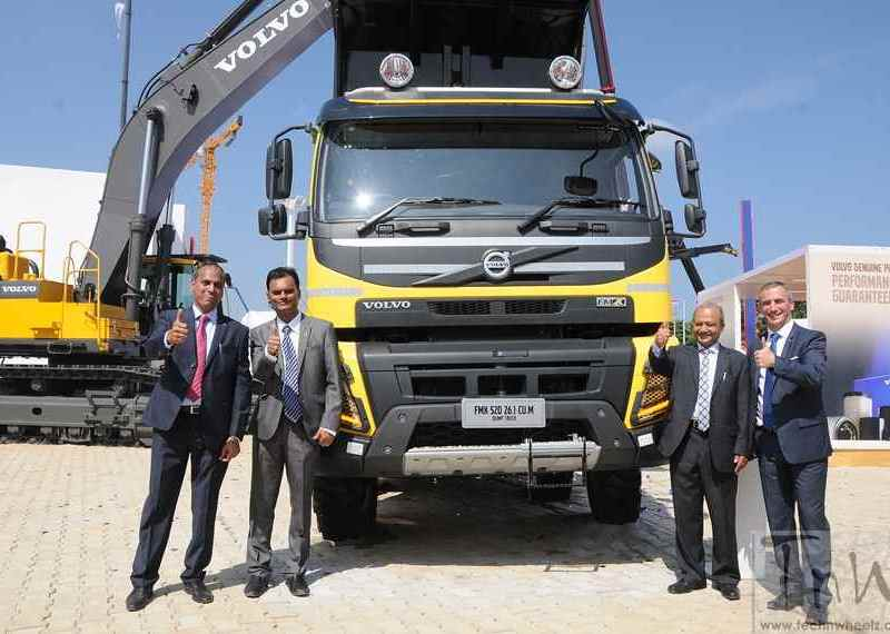 Volvo Trucks launches two large capacity 5 axle dump trucks @ EXCON 2015