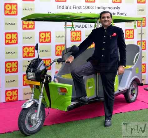 OK Play India E-Raaja electric rickshaw