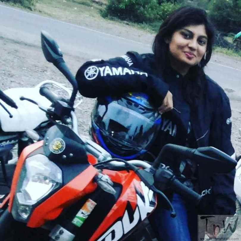Kalyani Potekar with her KTM Duke 200