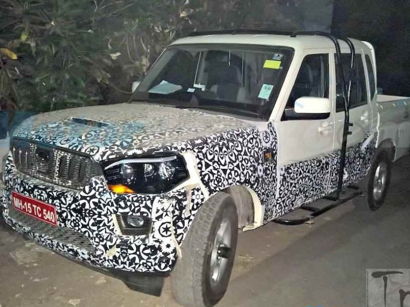 2016 Mahindra Scorpio Getaway facelift spotted testing