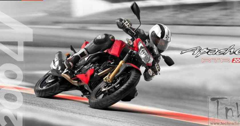 TVS Apache RTR 200 4V launched. 200cc segment gets hotter !!
