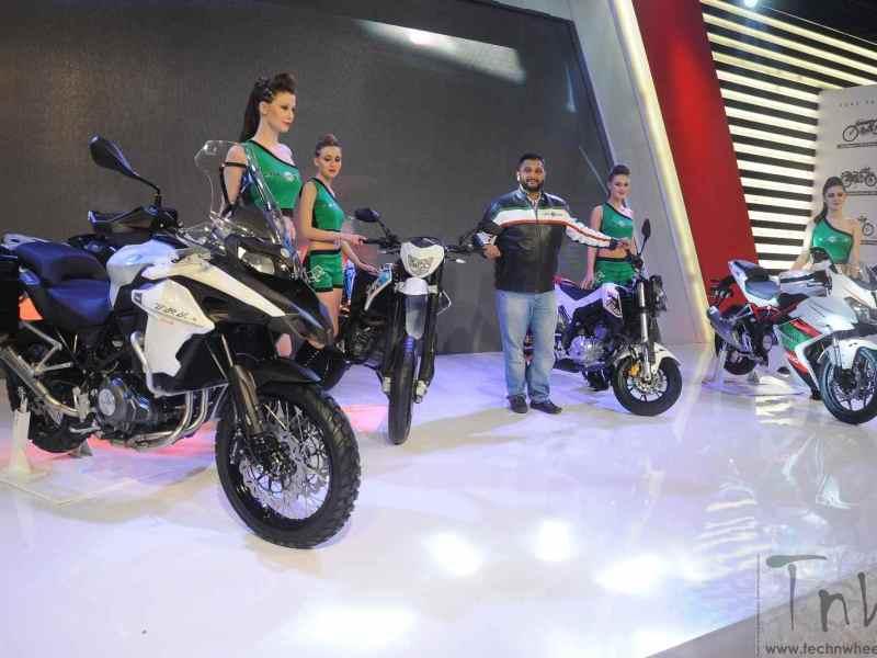 DSK Benelli unveils 4 new bikes for India @ 2016 Delhi Expo
