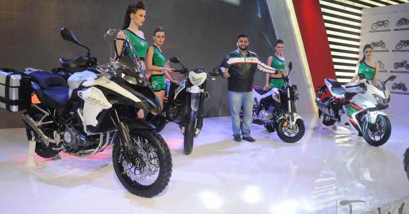 DSK Benelli unveils 4 new bikes for India @ 2016 Delhi Expo