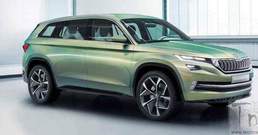 ŠKODA VisionS concept car unveiled at Geneva. To be positioned above Yeti