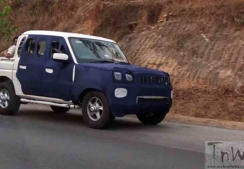 Spy Pics: Mahindra Scorpio Getaway / Mahindra Pik-Up facelift spied camouflaged