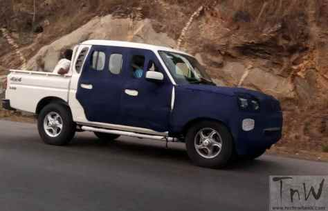 Mahindra Scorpio Pik-Up  Getaway facelift spy pic (4)