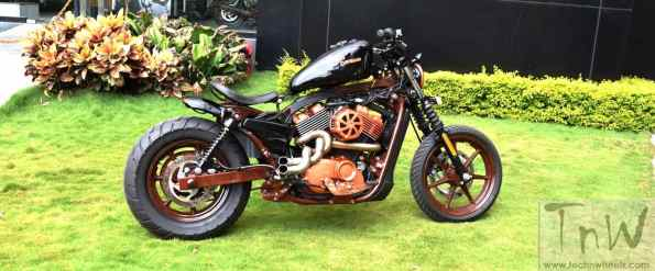 Twisted Mayhem- Harley Street 750 based retro custom