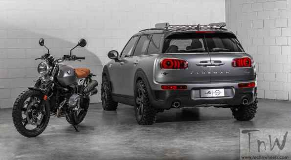 MINI Clubman All4 Scrambler Concept inspired from scrambler motorcycle