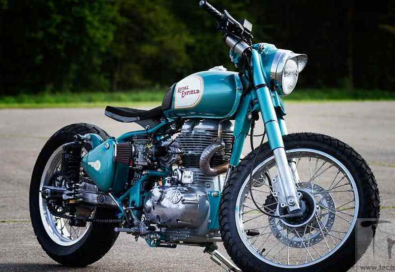 Image Gallery: Royal Enfield Mo' Powa' , Classic 500 based turbocharged dragster