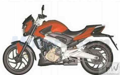 Bajaj Pulsar CS400 patent images leaked. Source-motoroids,com