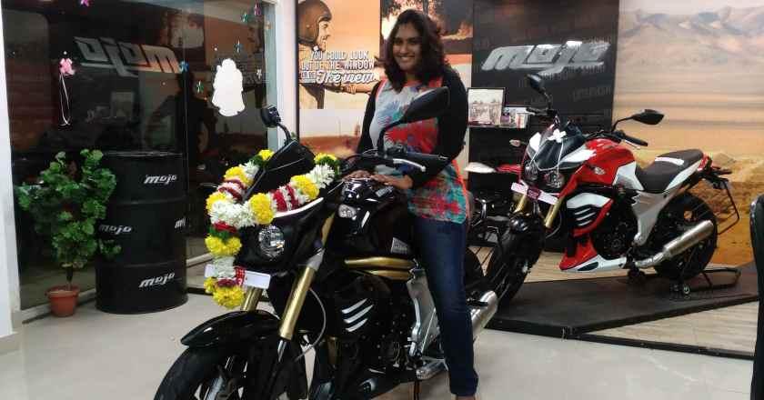 Mahindra's 1st big boy get his 1st lady