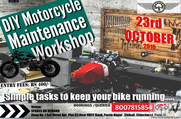 DIY Motorcycle Maintenance and Repair Workshop, Pune