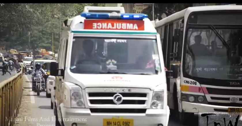 ALWAYS GIVE WAY TO THE AMBULANCE FIRST by Pune Police