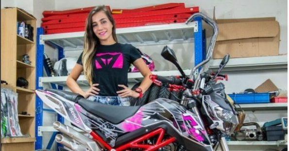 World Women Riders: Ligia Martins from Brazil, professional stunt rider
