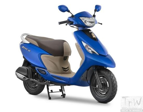 BS4 TVS Scooty Zest 110 launched in new colours and with added features