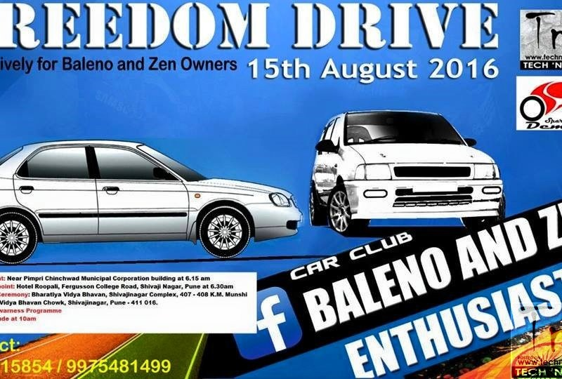 BAZE Freedom Drive exclusively for Baleno and Zen car owners