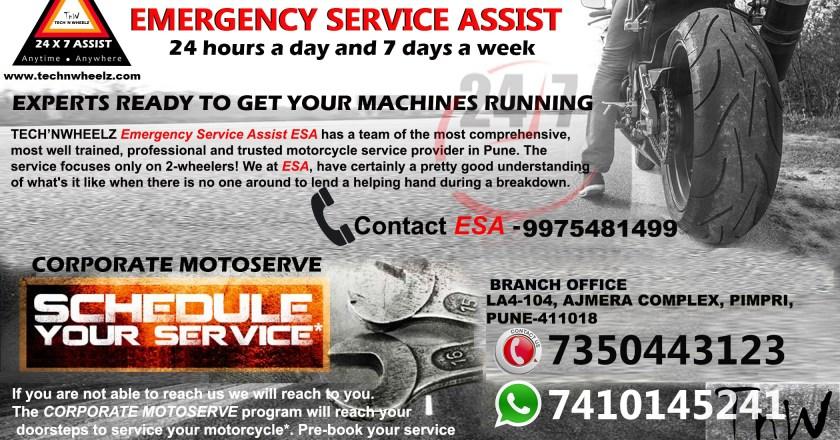 technwheelz 24X7 ESA- Motorcycle Emergency Service Assist