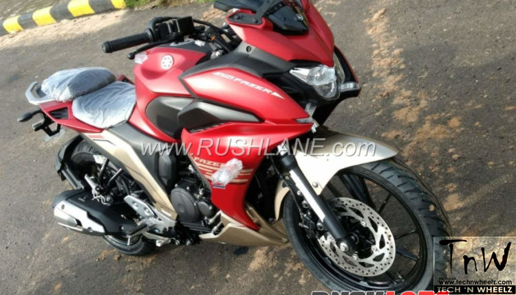 Fazer 250-Yamaha FZ25 based fully faired motorcycle spied. October launch