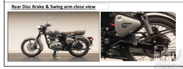 Leaked!! Royal Enfield Classic 350 / 500 with Rear Disc and Thunderbird's swingarm !!