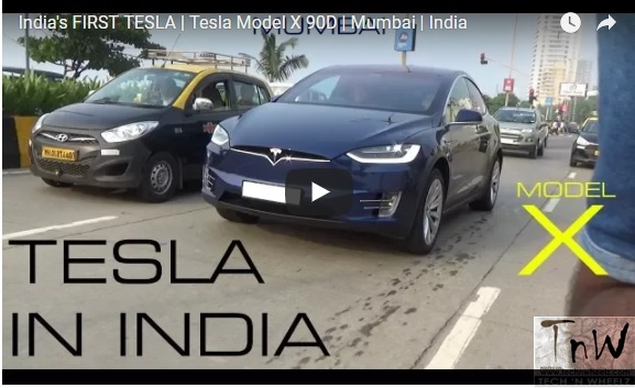 India's first Tesla caught on tape