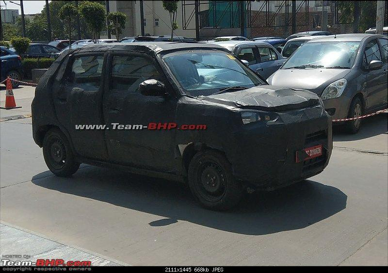 Suzuki Future-S based micro-SUV spied with heavy camo