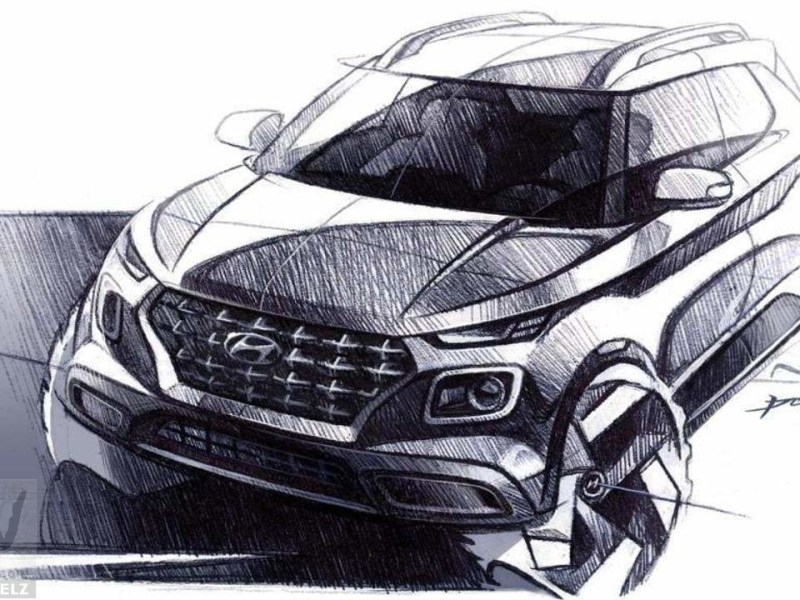Hyundai Venue revealed via official sketches