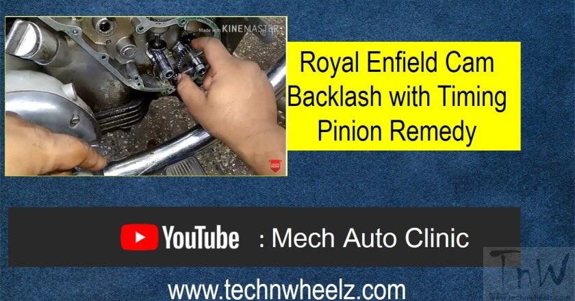 Video: Old Royal Enfield Cam Backlash with Timing Pinion Remedy