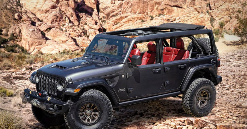 V8-powered Jeep Wrangler Rubicon 392 Concept