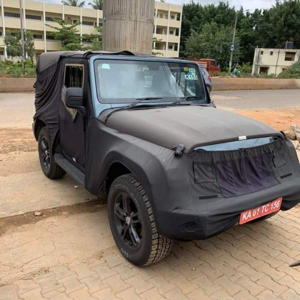 2020 Mahindra Thar spied with production body. Unveil on 15th August