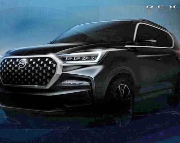Ssangyong Rexton G4 facelift teased