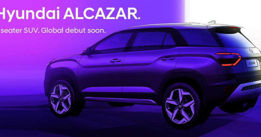 Hyundai Alcazar 7-seat SUV teasers images released. Launch soon