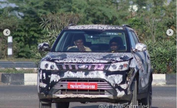 130hp Mahindra XUV300 Sportz spied testing?