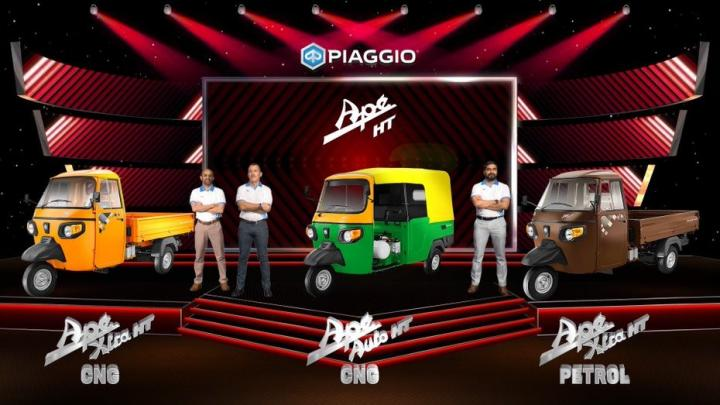 Piaggio Ape HT 300cc BS6 Petrol and CNG 3-wheelers launched
