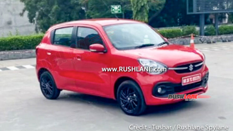 2021 Maruti Suzuki Celerio spied undisguised. Red and Blue colour spotted